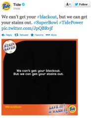 Tide Super Bowl Blackout Tweet
