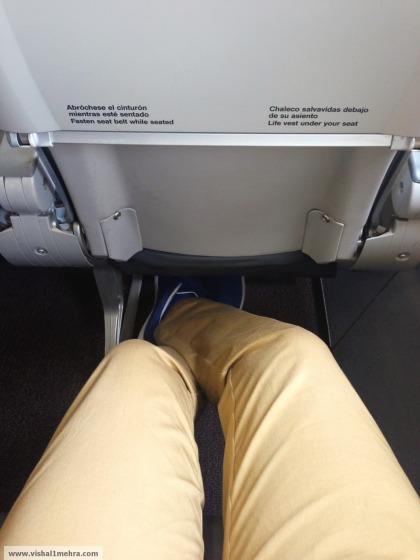 Iberia business class leg room