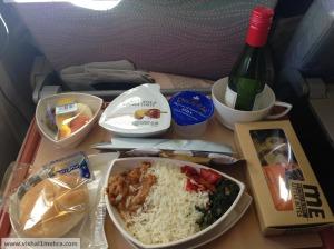Emirates Economy Class Meal