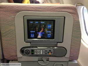Emirates A330-200 Old IFE In flight entertainment