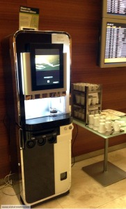 Iberia madrid lounge - coffee machine
