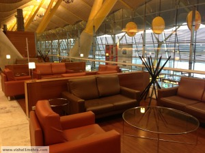 Iberia madrid lounge seating area
