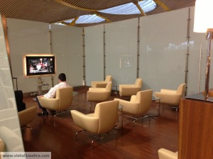 Iberia madrid lounge - tv viewing area