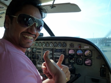 Shashank Nigam in Cockpit