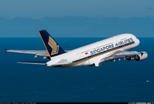 Singapore Airlines A380 takes off from Kingsford Smith, Sydney Airport. Picture Courtesy: Airliners.net