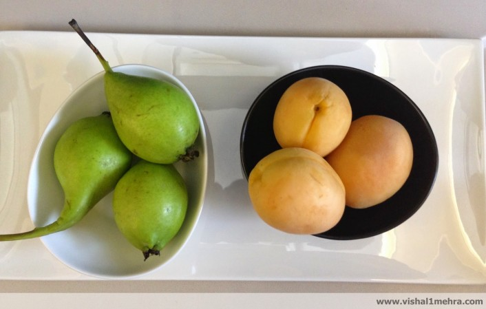 Fruit platter on Turkish Airlines