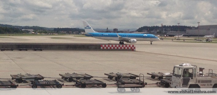 KLM Embraer 190 at Zurich Kloten Airport