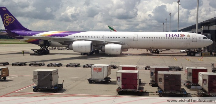 Thai Airways A340-600 at Zurich Airport