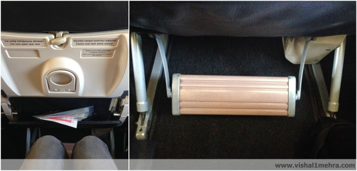 Turkish Airlines A320-200 Legroom and Footrest