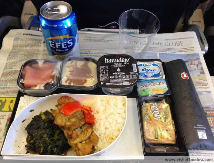 Turkish Airlines A320 Economy Lunch Meal