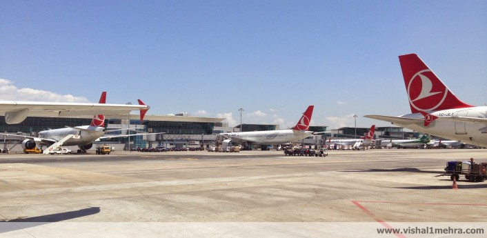 Turkish Airlines Aircrafts at Istanbul Airport