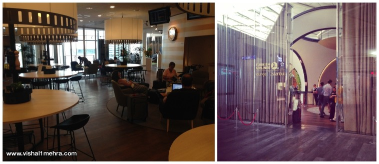 SAS Lounge, Stockholm and Turkish Airlines CIP Lounge, Istanbul