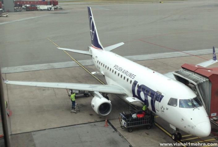 LOT Embraer 170 at Stockholm Arlanda
