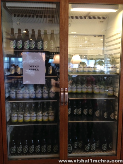 SAS Stockholm Lounge - Beer Fridge