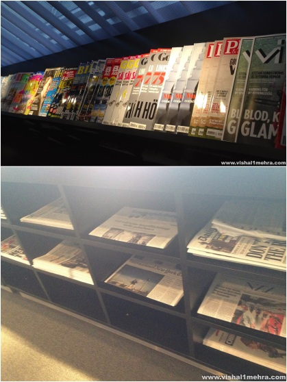 SAS Stockholm Lounge - Magazines and Newspapers