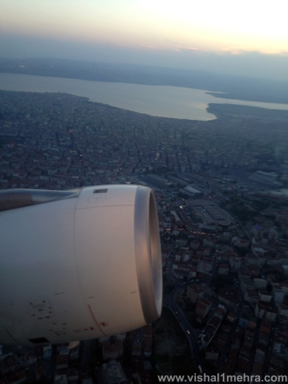 Turkish Airlines A330 - Istanbul Aerial View