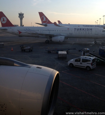 Turkish Airlines Aircraft at Istanbul airport ramp