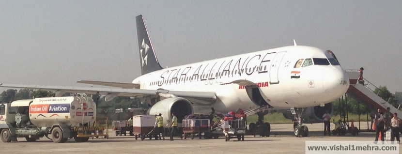 Air India Star Alliance Livery at Jammu