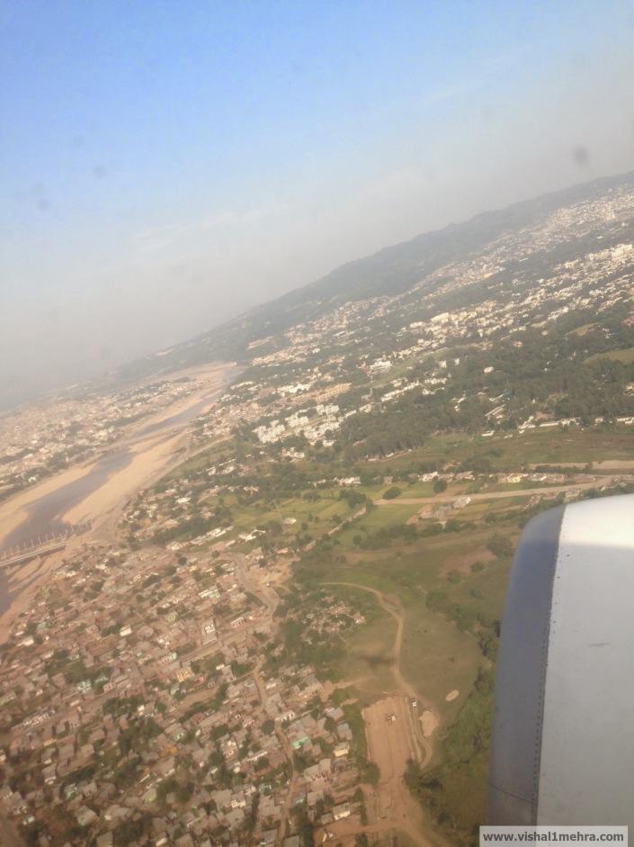 Jammu Airport Takeoff - View