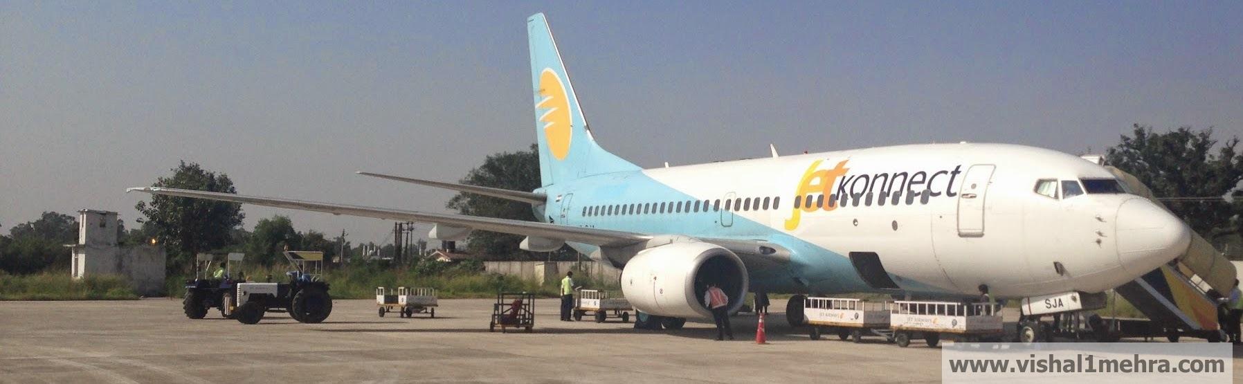 Jet Airways Domestic B737 at Jammu