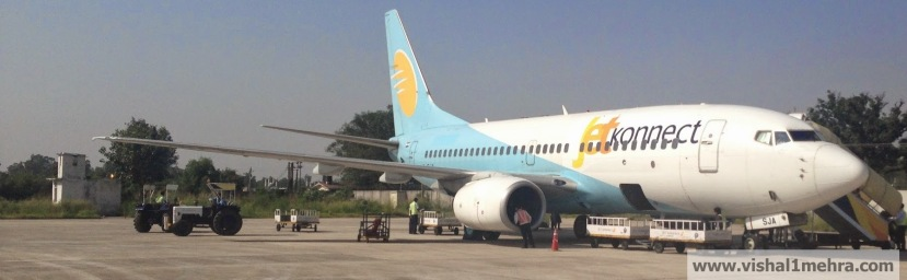 Jet Airways Domestic - B737 at Jammu