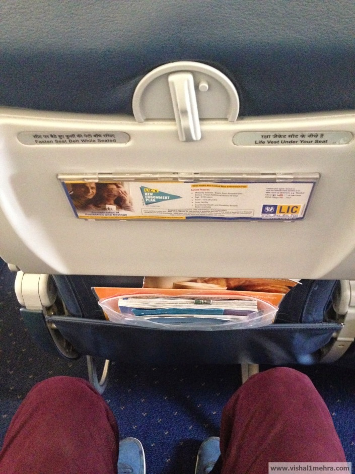 Jet Airways Domestic - Legroom