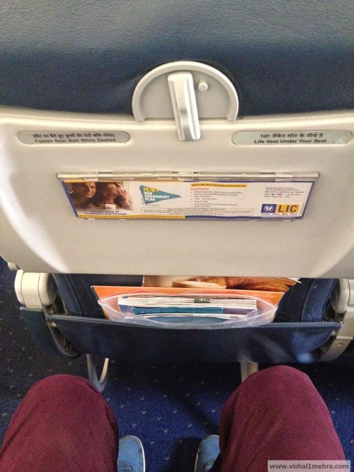 Jet Airways Domestic - Legroom