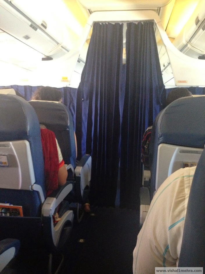 Jet Airways Domestic - Movable curtain
