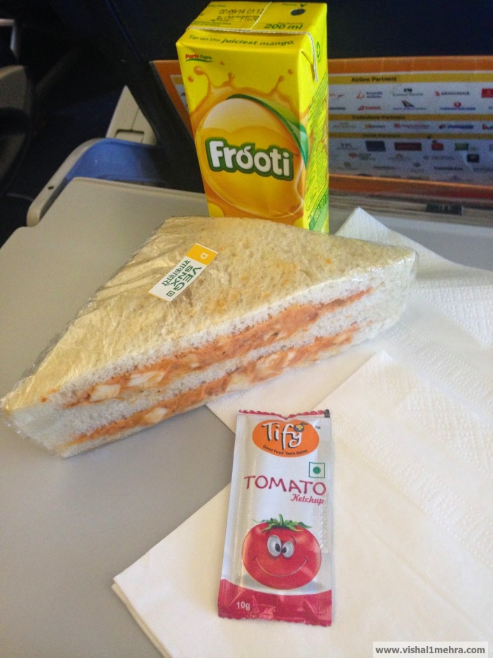 Jet Airways Domestic - Paid sandwich meal