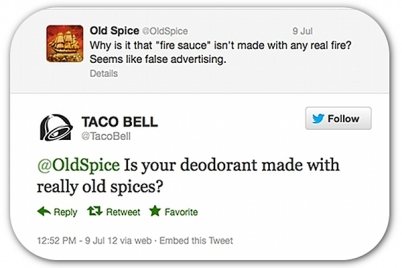Taco Bell vs Old Spice - Tweet Wars