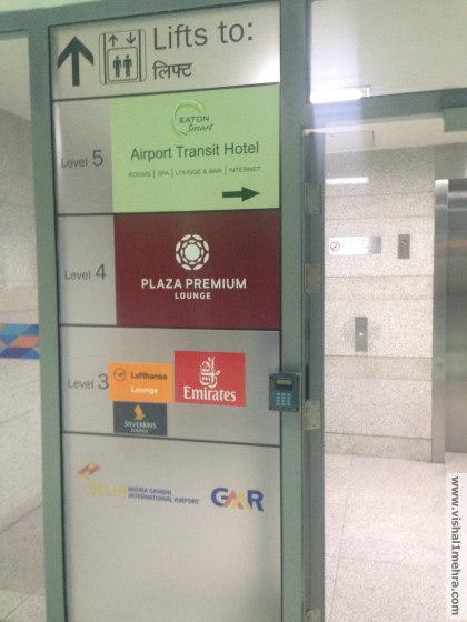 Delhi T3 Airport Lounge Lift