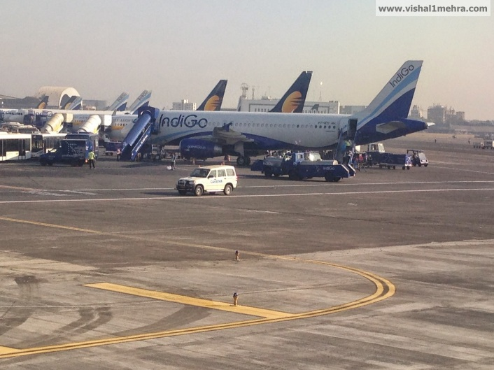 Indigo and Jet Airways at Mumbai Airport