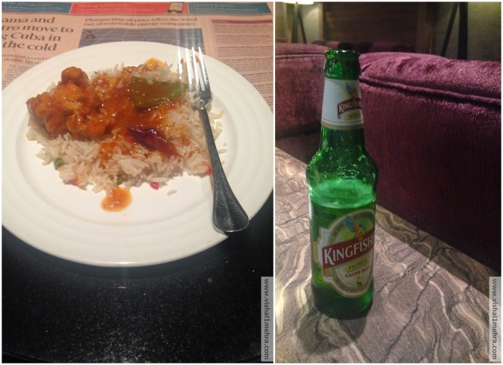 Chilly Chicken with Rice and Beer
