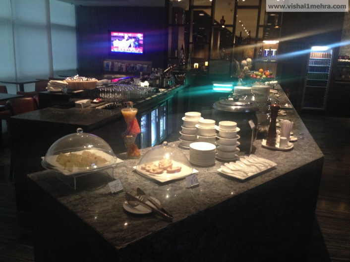 Plaza Premium Lounge Delhi -  Food Counter