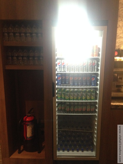 Plaza Premium Lounge Delhi -  Beverage Fridge