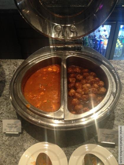 Plaza Premium Lounge Delhi -  Vegeterian Mains
