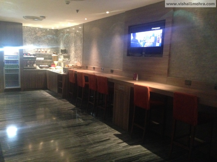 Plaza Premium Lounge Delhi -  Seating by the Bar
