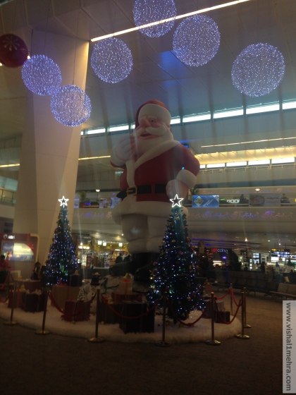 Santa Claus at Delhi Airport