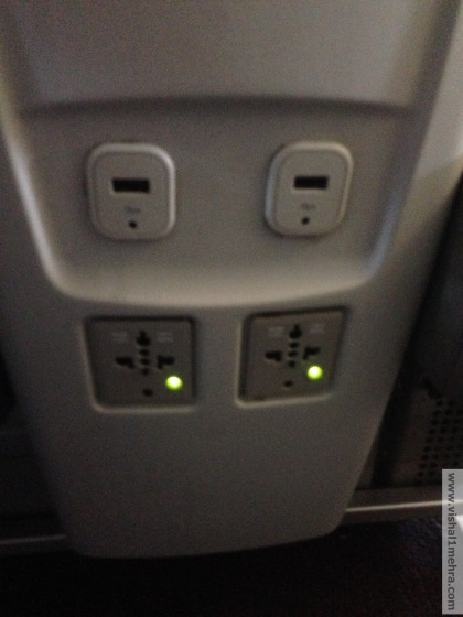 SriLankan A320 Business Class - Electric Plugs