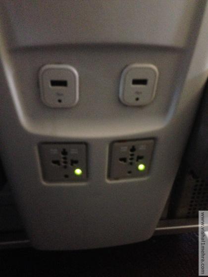 SriLankan A320 Business Class - Electric Plugs