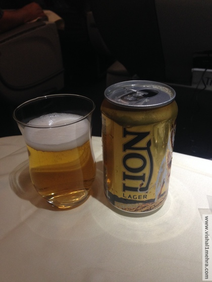 SriLankan A320 Business Class - Lion Beer