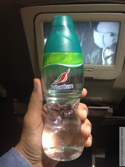 SriLankan A320 Business Class - Water Bottle