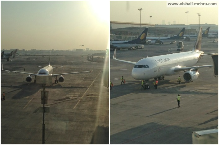 Vistara 996 A320 at Mumbai Terminal 2