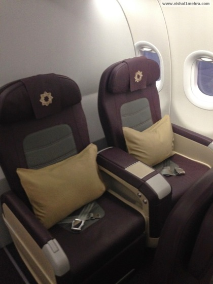 Vistara A320 Business class seats