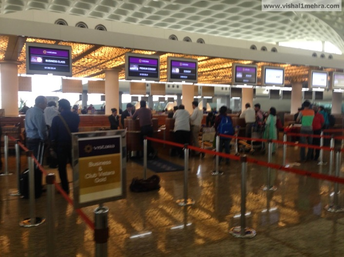 Vistara check-in counters at Mumbai T2
