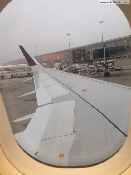 Vistara - View over wing from seat 14a