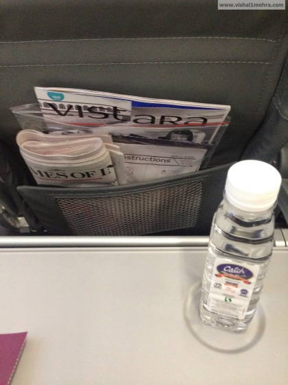 Vistara economy - Water bottle
