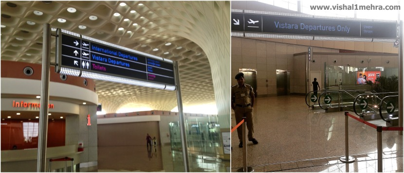 Vistara exclusive departures area at Mumbai T2