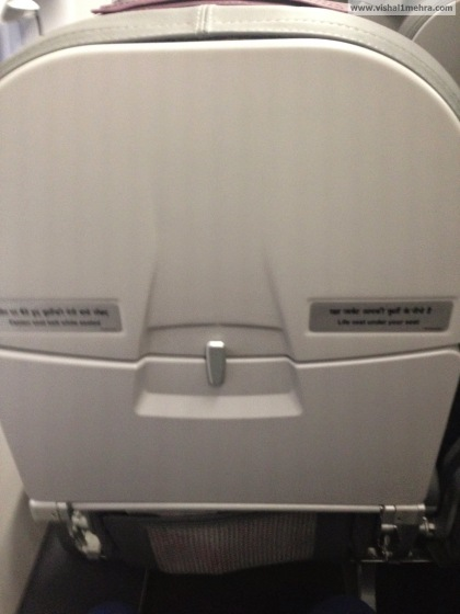 Vistara Premium Economy - No seat back IFE